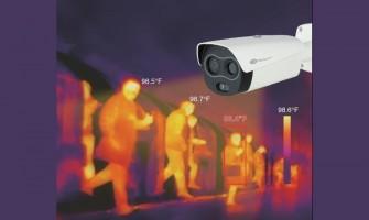 Instalasi kamera pemantau keramaian - COVID-19