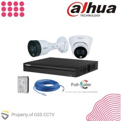 Paket Instalasi Dahua IP Camera Full Colour 1080P - 1 Kamera